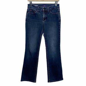 NYDJ Barbara Bootcut Mid Rise Dark Wash Jeans
